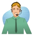 Young man a call operator eps10 vector image