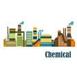 Flat factories and plants vector image