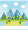 seasonal weather landscape icon vector image