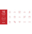 15 bow icons vector image vector image