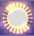 abstract circle light banner vector image