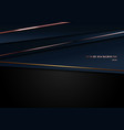 abstract template dark blue luxury premium vector image vector image