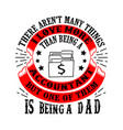 accountant dad father day quote and saying good vector image vector image