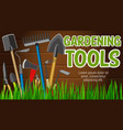 agriculture gardening and farming tools vector image vector image