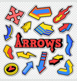 arrow isolated collection for stickers prints vector image vector image