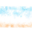 beautiful watercolor beach seascape abstract vector image vector image