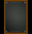 black board in wooden frame a4 vector image vector image