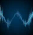 Blue sound wave vector image vector image