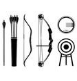 bow set icon arrow