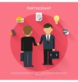 Businessmen on business meeting vector image vector image