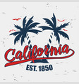 california typography for design clothes vector image vector image