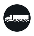 car truck container model transport vehicle block vector image vector image