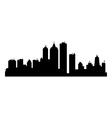 city skyline vector image vector image