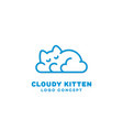 cloudy kitten logo vector image