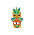 colorful traditional hawaiian tiki mask flat vector image vector image