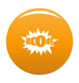 comic boom big icon orange vector image