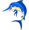 cute cartoon marlin fish smile vector image vector image