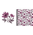 cute floral seamless pattern doodle flowers vector image vector image