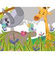 cute wildlife animals vector image vector image