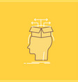 data extraction head knowledge sharing flat line vector image