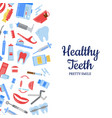 flat style teeth hygiene background vector image vector image