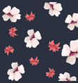 flowers floral nature foliage pattern vector image