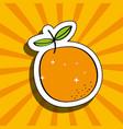 fresh orange delicious fruit drawing sticker image vector image
