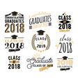 graduation wishes overlays labels set retro vector image vector image
