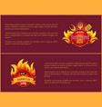 grill party hot barbeque fest posters set vector image