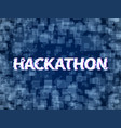 hackathon program code software marathon hack vector image vector image