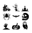 halloween set icon vector image vector image