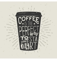 hand-drawn silhouette paper cup coffee vector image vector image
