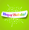 happy birthday greetings vector image vector image