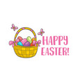 happy easter slogan vector image vector image