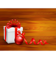 Holiday background with gift box vector image vector image