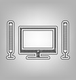 home theater sign pencil sketch imitation vector image vector image