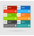 Infographics options banner steps set vector image vector image