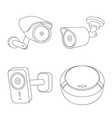 isolated object of cctv and camera logo vector image vector image