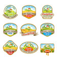 labels with the image of a lovely farm vector image vector image