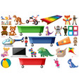 large set of toys vector image