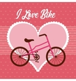 love my bicycle lifestyle concept icon vector image
