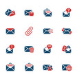 mail and envelope icon set vector image vector image