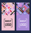 makeup brand banners or flyers vector image