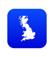 Map of great britain icon digital blue