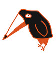 modern with black cute crow vector image vector image