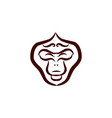 monkey faces logo and icon vector image vector image