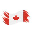 national flag of canada designed using brush vector image vector image