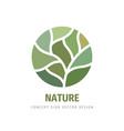 nature concept logo design green leaves creative vector image