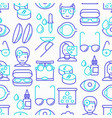ophthalmologist seamless pattern vector image vector image
