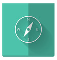 paper flat icon with a shadow compass vector image vector image